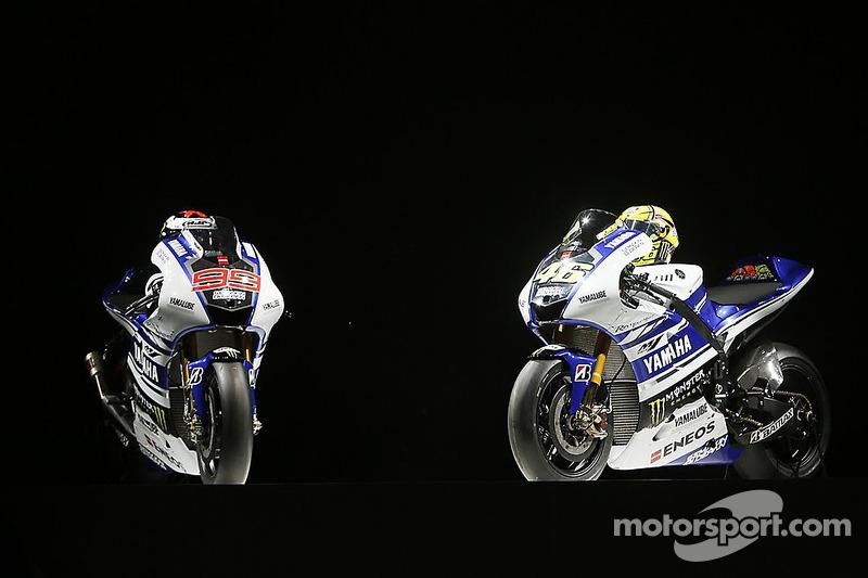 La Yamaha YZR-M1 di Valentino Rossi e Jorge Lorenzo