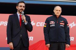 Franz Tost, Scuderia Toro Rosso Team Principal, alla presentazione della Scuderia Toro Rosso STR9