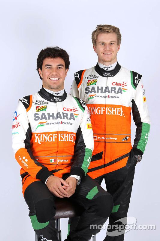 Nico Hulkenberg e Sergio Perez, Sahara Force India F1