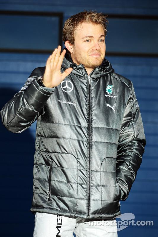 Nico Rosberg, da Mercedes AMG F1, no lançamento do novo Mercedes AMG F1 W05