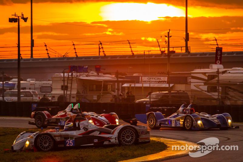 Testacoda per la #25 8Star Motorsports ORECA FLM09 Chevrolet: Enzo Potolicchio, Tom Kimber-Smith, Michael Marsal