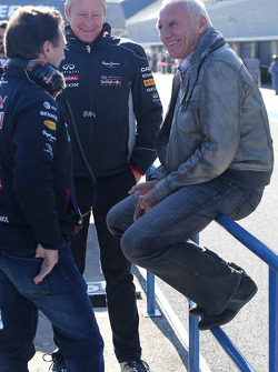 Christian Horner, Red Bull Racing, Sporting Director and Dietrich Mateschitz, Owner of Red Bull