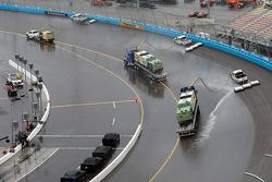 Rain suspends race action
