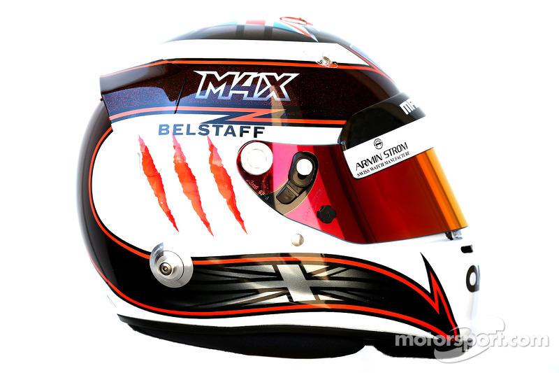 Il casco di Max Chilton, Marussia F1 Team