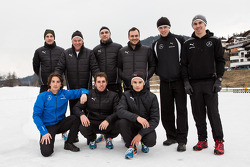 The 2014 Mercedes DTM drivers at Camp Seefeld for winter training: Paul, di Resta, Gary Paffett, Pascal Wehrlein, Robert Wickens, Christian Vietoris, Vitaly Petrov, Daniel Juncadella