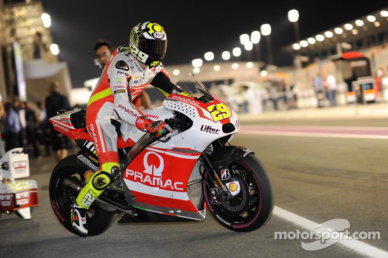 Andrea Iannone, Pramac Ducati at Qatar GP
