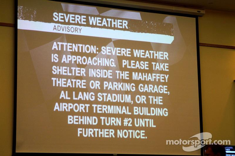 Avviso meteo allarmante