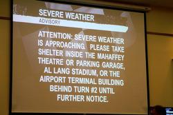 Severe weather advisory