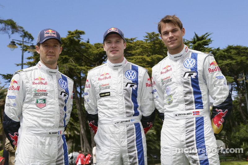 Sébastien Ogier, Jari-Matti Latvala, Andreas Mikkelsen