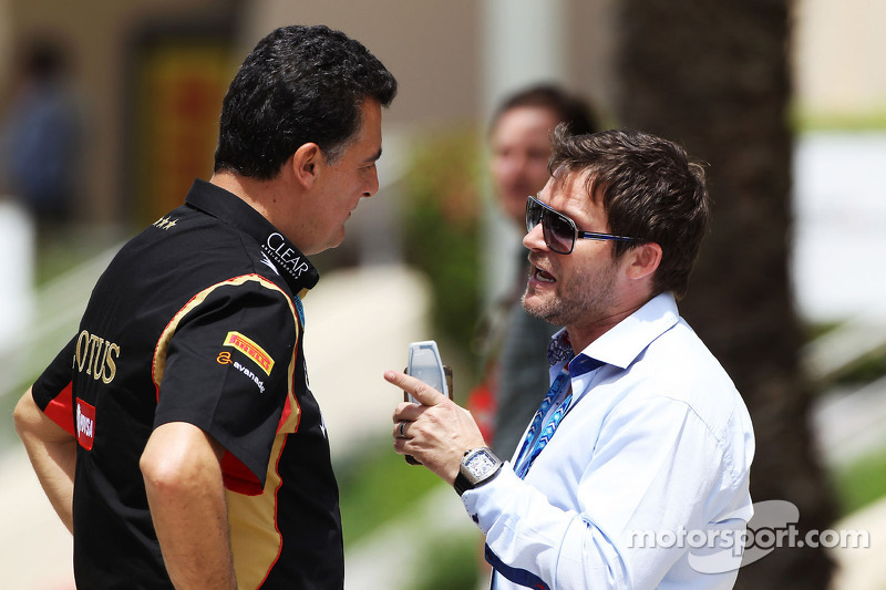 (L to R): Federico Gastaldi, Lotus F1 Team Deputy Team Principal with Dave Robertson, Driver Manager