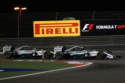 尼克·罗斯伯格, 梅赛德斯AMG F1车队,和刘易斯·汉密尔顿, 梅赛德斯AMG F1车队