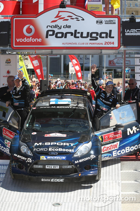 Segundo lugar Mikko Hirvonen e Jarmo Lehtinen, M-Sport Ford Fiesta WRC