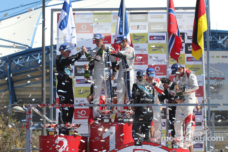 Vincitori Sébastien Ogier e Julien Ingrassia, secondo posto Mikko Hirvonen e Jarmo Lehtinen, terzo posto Mads Ostberg e Jonas Andersson