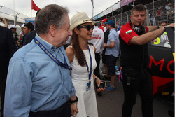 Jean Todt, presidente della FIA e sua moglie Michelle Yeoh