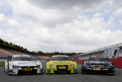 As três montadoras: BMW M4, Audi RS5 DTM, Mercedes C-Coupe