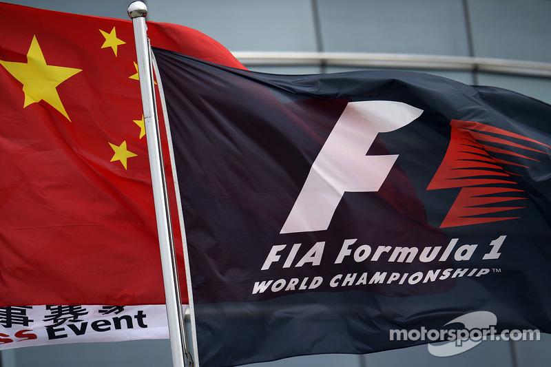 F1 ve Çin bayrakları