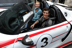Tennis star Maria Sharapova with Mark Webber