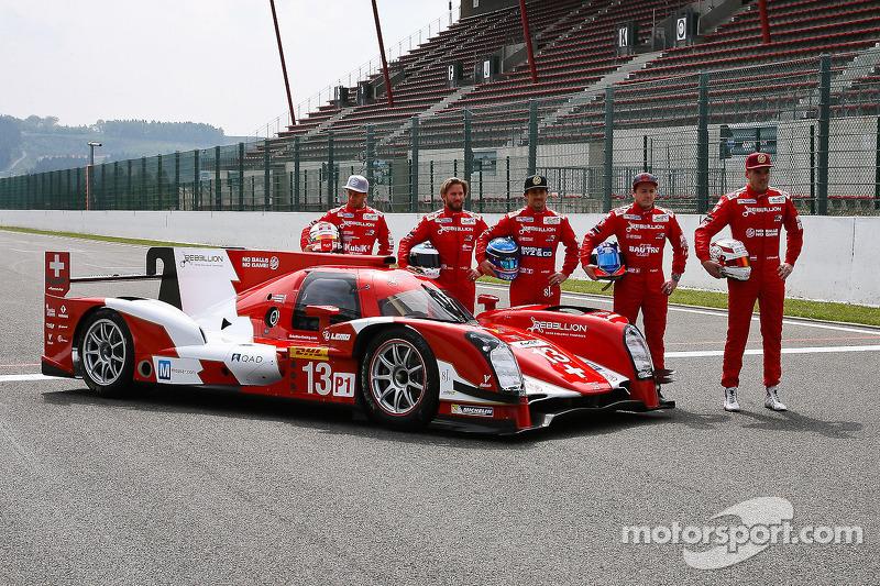 Rebellion R-One presenta la sua livera con i piloti Mathias Beche, Nick Heidfeld, Nicolas Prost, Fabio Leimer e Dominik Kraihamer