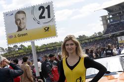 Gridgirl of Jamie Green, Audi Sport Team Abt Sportsline Audi RS 5 DTM