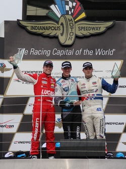 Podium: race winner Matthew Brabham, second place Luiz Razia, third place Jack Harvey