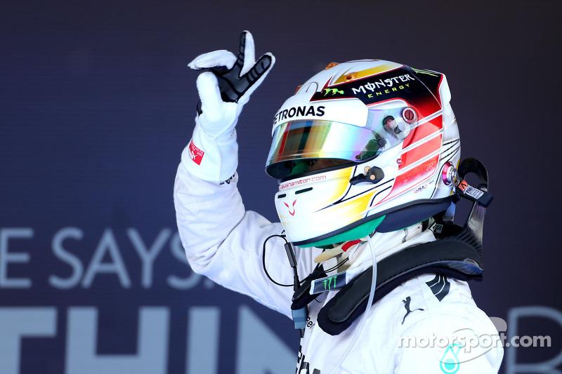Poleman Lewis Hamilton, Mercedes AMG F1 Team