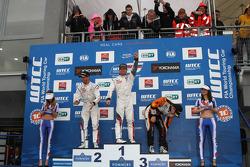 Winner Sébastien Loeb, Citroen C-Elysee WTCC, Citroen Total WTCC, 2nd Jose Maria Lopez, Citroen C-Elysee WTCC, Citroen Total WTCC, 3rd Norbert Michelisz, Honda Civic WTCC, Zengo Motorsport, Winner tc2 Petr Fulin, SEAT Leon WTCC, Campos Racing