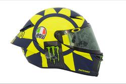 Présentation du casque de Valentino Rossi