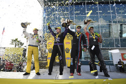 Top Fuel winner Richie Crampton, Funny Car winner Jack Beckman, Pro Stock winner Tanner Gray, Pro Stock Bike winner Eddie Krawiec