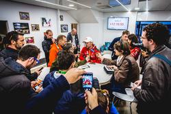 Kris Meeke, Citroën World Rally Team with the media
