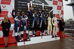 Podium GT3: Race winners #75 Optimum Motorsport Aston Martin V12 Vantage GT3: Flick Haigh, Jonny Adam, second place #99 Beechdean AMR Aston Martin V12 Vantage GT3: Andrew Howard, Darren Turner, third place #116 ERC Sport Mercedes-AMG GT3: Lee Mowle, Yelmer Buurman