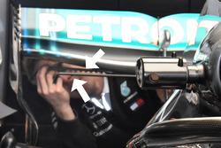 Generatore di vortici sulla Mercedes AMG F1 W09