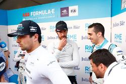 Nelson Piquet Jr., Jaguar Racing, Jean-Eric Vergne, Techeetah, Sébastien Buemi, Renault e.Dams in the media pen