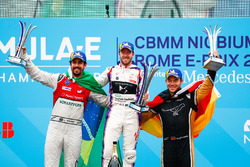 Sam Bird, DS Virgin Racing, wins the Rome ePrix, with Lucas di Grassi, Audi Sport ABT Schaeffler, in 2nd place, Andre Lotterer, Techeetah, in 3rd