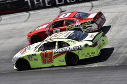 Brandon Jones, Joe Gibbs Racing, Toyota Camry Toyota Menards/Turtle Wax and Garrett Smithley, JD Motorsports, Chevrolet Camaro VehicleKeys.com