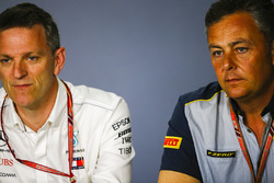 James Allison, Technical Director, Mercedes AMG, and Mario Isola, Racing Manager, Pirelli Motorsport, in a Press Conference