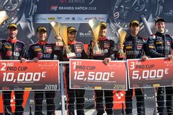 Podio: Ganadores # 17 Equipo WRT Audi R8 LMS: Stuart Leonard, Frederic Vervisch, segundo lugar # 1 belga Audi Club Team WRT Audi R8 LMS: Alex Riberas, Christopher Mies, tercer lugar # 66 Attempto Racing Audi R8 LMS: Steijn Schothorst, Kelvin van der Linde