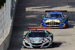 #86 Michael Shank Racing with Curb-Agajanian Acura NSX, GTD: Katherine Legge, Mario Farnbacher Art Fleischmann
