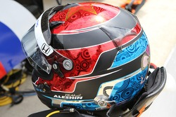 The helmet of Mikhail Aleshin