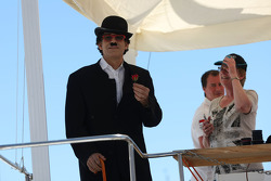 A Charlie Chaplin impersonator