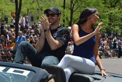 James Hinchcliffe y su novia Kirsten Dee