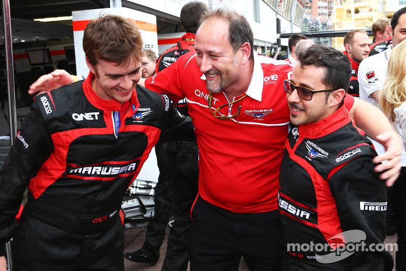 Marussia F1 Team festeggia Jules Bianchi, che conquista i primi punti in F1