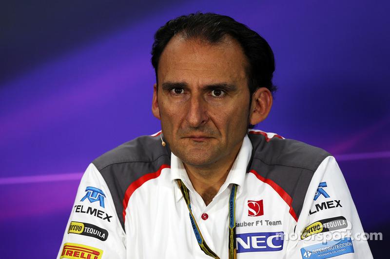 Giampaolo Dall 'Ara, Responsabile ingegneri di pista Sauber F1 Team, alla conferenza stampa FIA