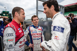 Tom Kristensen, Anthony Davidson and Mark Webber