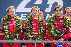 LMP1-L podium: class winners Nicolas Prost, Nick Heidfeld, Mathias Beche