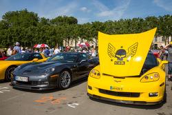 Corvettes pronto para desfile