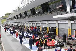 The GP3 pitlane