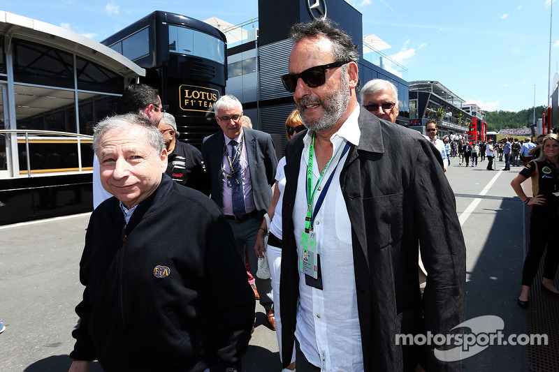 (L to R): Jean Todt, FIA President with Jean Reno, Actor