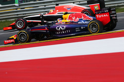 Daniel Ricciardo, Red Bull Racing RB10 and Jules Bianchi, Marussia F1 Team MR03