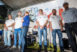 Markus Winkelhock, René Rast, Christopher Haase and Christian Mamerow