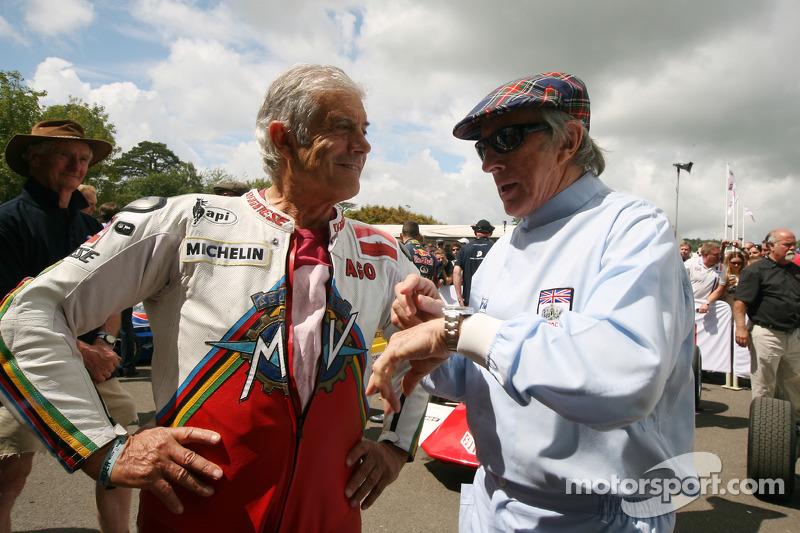 Giacomo Agostini e Jackie Stewart